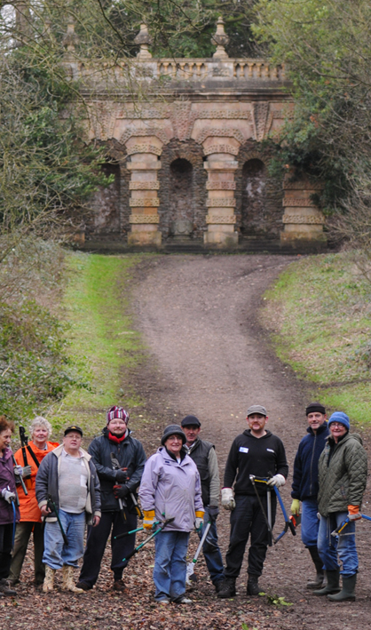 KWAG's first working party in January 2011. Volunteer working parties operate on the estate once a month.