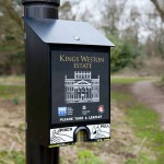 Leaflet dispenser. May 2013