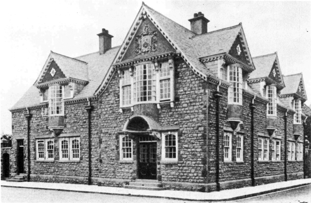 The Kings Weston Estate office on Shirehampton High Street (demolished). Designed by Frederick Bligh Bond in 1906.