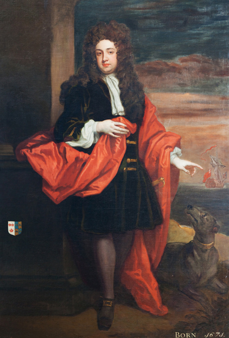 Edward Southwell, 1701, by Kneller. Hanging at Kings Weston House.