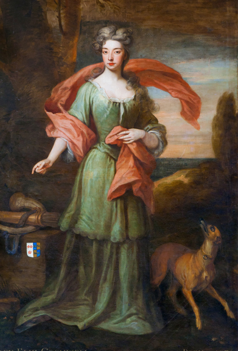Lady Elizabeth Cromwell, wife of Edward Southwell. Painted by Kneller in 1708 and hanging at Kings Weston House