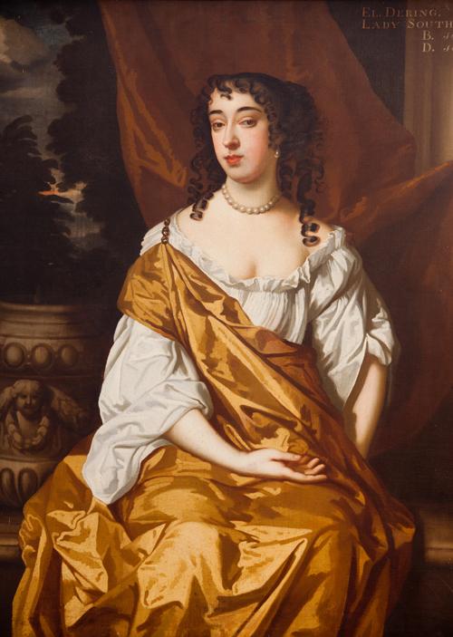 Elizabeth Dering, wife of Sir Robert Southwell. Painting hanging at Kings Weston Hosue
