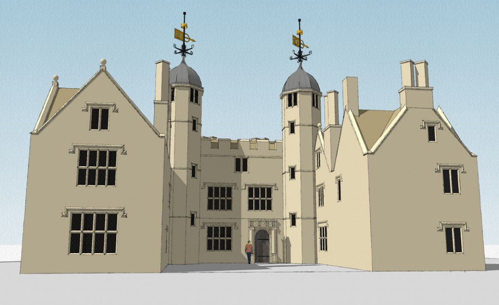 A reconstruction of the Elizabethan mansion at Kings Weston. (Kings Weston Action Group)