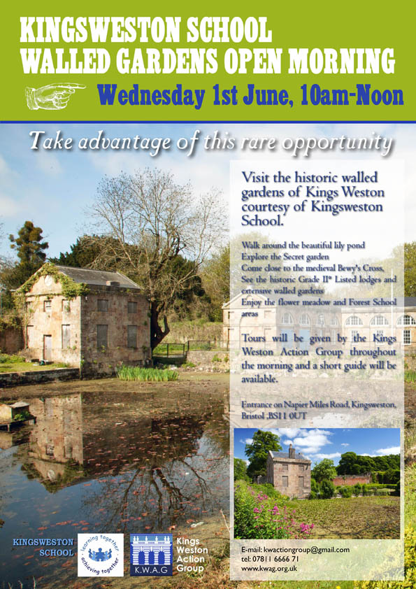walled garden open day poster