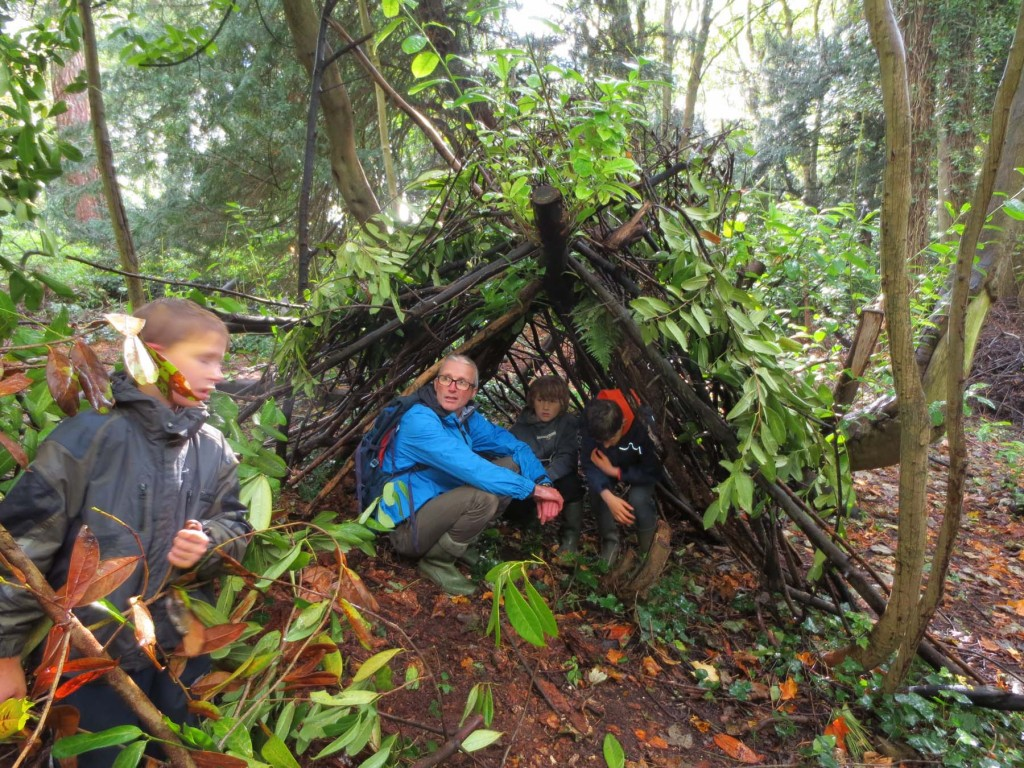 The Celtic Shelter built by Woodstock School childern