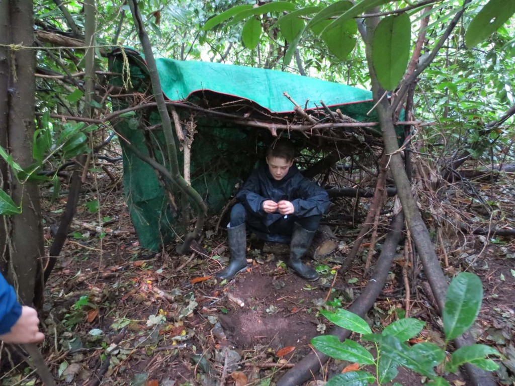 The Roman shelter built by the children of Woodstock School