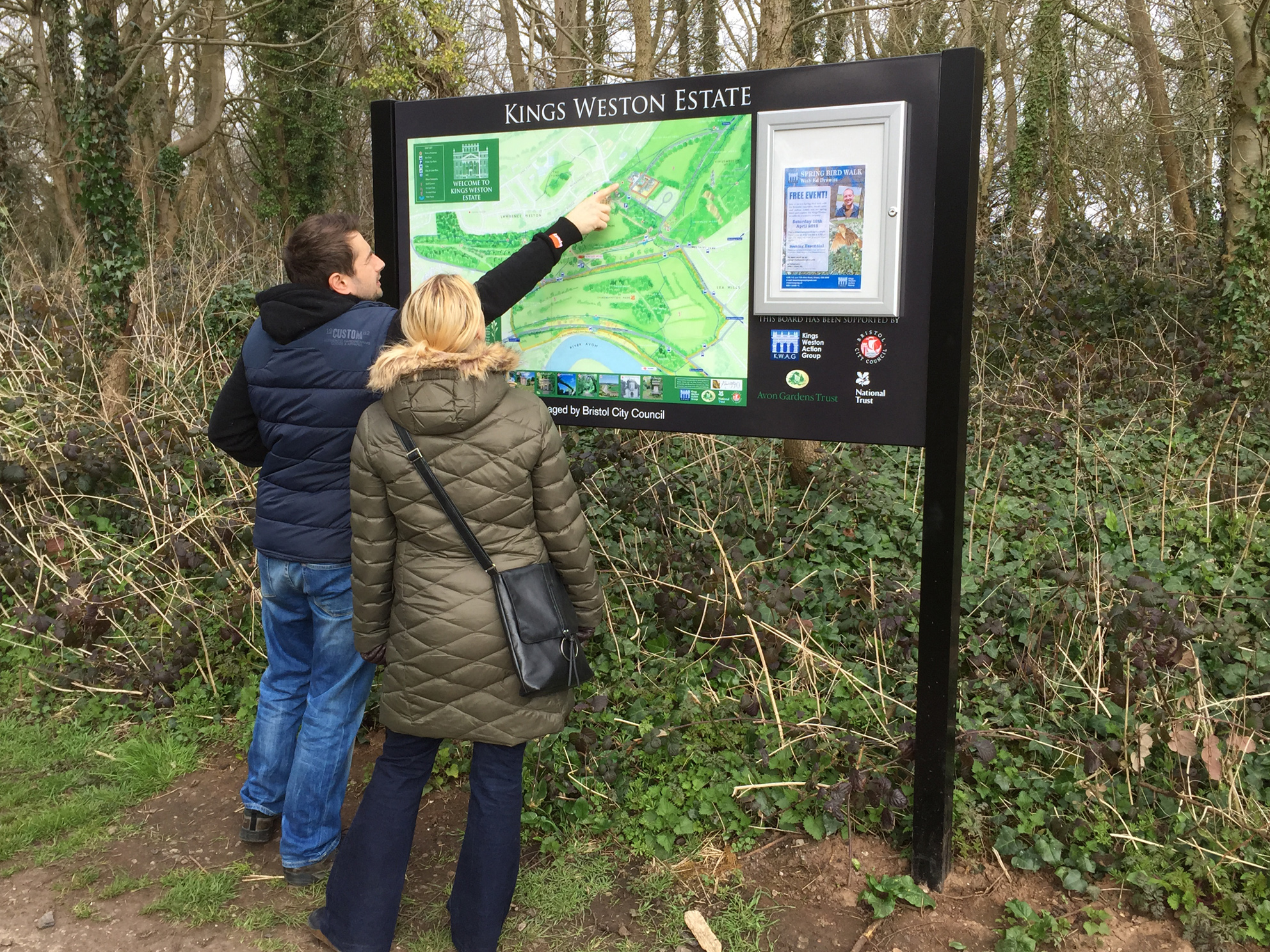 Our new map board gets some use! April 2015
