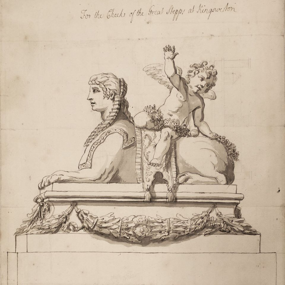 Drawing in the Kings Weston Book of Drawings, Courtesy of Bristol Record Office