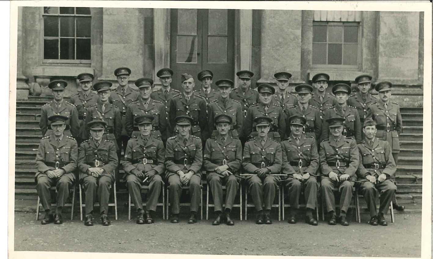Second World War photograph in front of Kings Weston House Kingsweston WWII house war