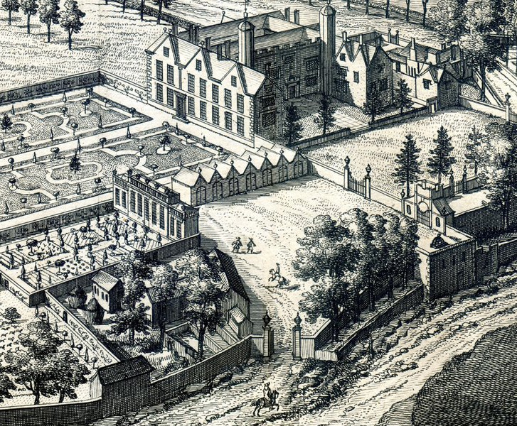 The service buildings behind Kings Weston house in about 1710