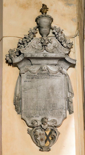 Elizabeth's memorial in Henbury Church