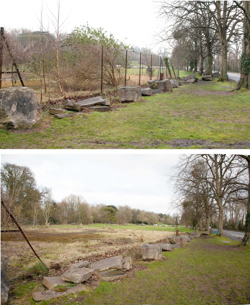 Removal of the old tennis court from Shirehampton Road opened up the parkland from the road and removed an eyesore.